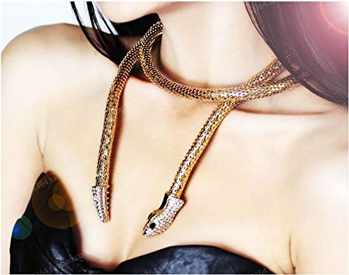 Flexible Bendable Gold Snake Necklace