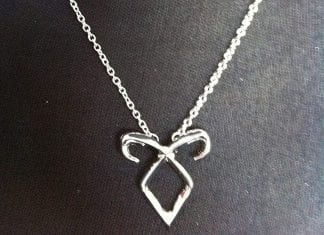 Angelic Power Rune Necklace Inspired by The Mortal Instruments City of Bones
